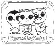 Printable Selfie draw so cute coloring pages