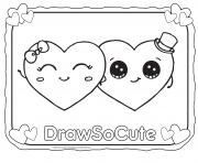 Printable Valentine Hearts Draw So Cute Coloring Pages