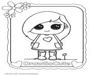 Sophie draw so cute coloring pages