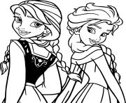 Printable elsa anna disney frozen disney coloring pages