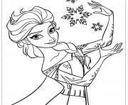 Printable elsa frozen disney coloring pages