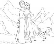 Printable Elsa and Anna Frozen disney coloring pages