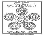 Printable fidget spinner fun round mandala zen coloring pages