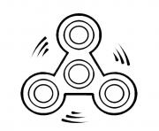 Printable fidget spinner round move coloring pages