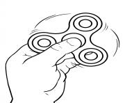 Printable fidget spinner with hand coloring pages