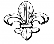 fleur de lys coloring pages - photo#21