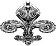 fleur de lis detailed difficult