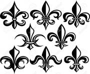 Printable Fleur De Lis New Orleans Stock Vector coloring pages