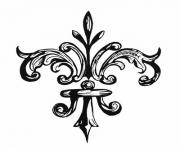 Printable Fleur De Lis by Grogee coloring pages