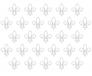 Printable fleur de lis patern coloring pages