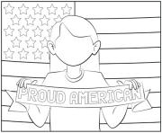 July 4ths Girl coloring pages
