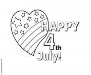 Printable happy 4th july usa celebration coloring pages