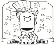 Happy 4th of Julys coloring pages