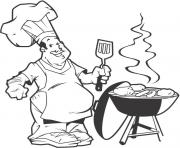 barbeque coloring pages