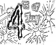 fourth of july big fireworks coloring pages