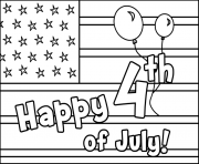 Printable 4th Of Julys coloring pages