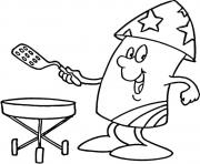 4th of july bbq coloring pages