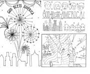 Printable Christian 4th of Julys coloring pages