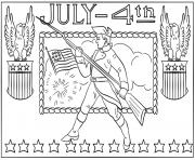 4th of july independence day coloring pages