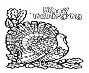 Printable Happy thanksgiving turkey coloring pages