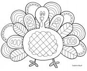 Printable amazing turkey thanksgiving adult coloring pages