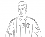 Printable robert lewandowski soccer coloring pages