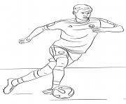 Printable thomas muller soccer coloring pages