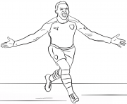 Printable alexis sanchez soccer coloring pages
