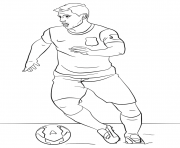 Printable sergio aguero soccer coloring pages