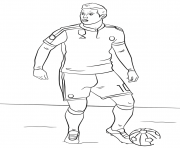 Printable james rodriguez soccer coloring pages