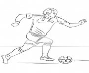 Printable gareth bale soccer coloring pages