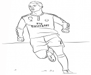 Printable cristiano ronaldo soccer coloring pages