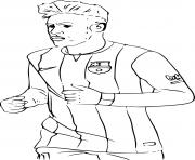 Printable neymar fc barcelone soccer coloring pages