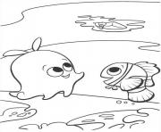 Printable look at the boat finding nemo coloring pages