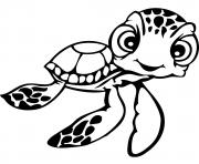 Printable Squirt Finding Nemo Disney coloring pages