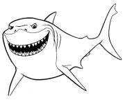 Printable bruce finding nemo movie coloring pages