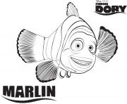 Printable marlin from finding nemo disney coloring pages