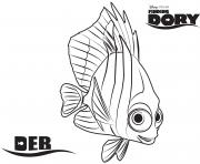Printable Deb Finding Dory Disney coloring pages