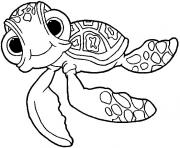 Printable finding nemo squirt coloring pages