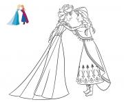 Printable Anna confides a secret to Elsa frozen coloring pages
