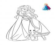 Printable hug with sisters frozen elsa anna 2 coloring pages