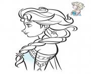 Printable elsa frozen profil 2018 coloring pages
