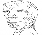 Taylor Swift Funny coloring pages