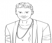 justin bieber celebrity coloring pages