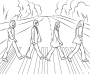 the beatles abbey road celebritys coloring pages