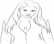 nicki minaj celebrity coloring pages
