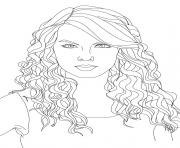 printable taylor swift 2 coloring pages