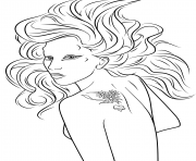 lady gaga celebrity coloring pages