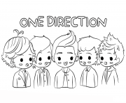 one direction celebrity coloring pages