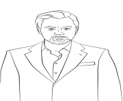 leonardo dicaprio celebrity coloring pages